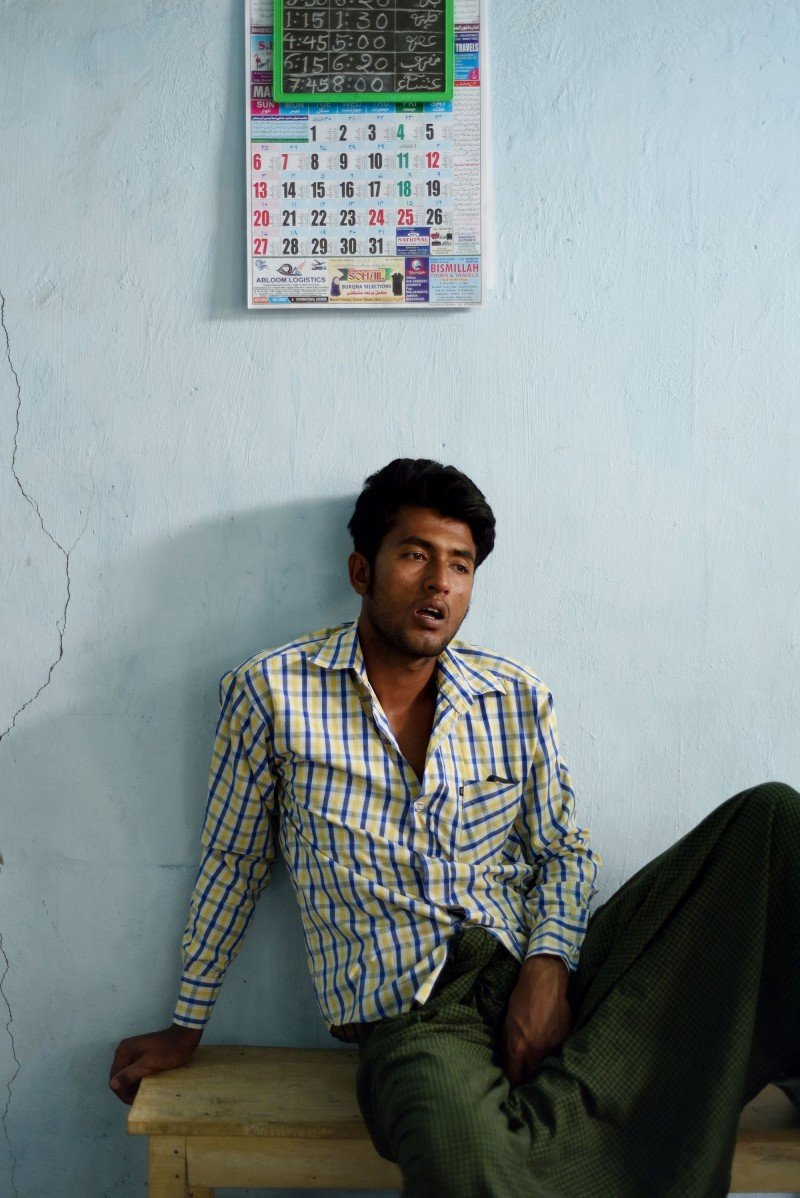Idris, a passionate young man, discusses the state-imposed tax on Rohingya Muslims that extends from their cattle to newborns. (Kashif Ali)