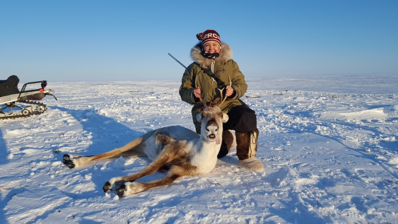 Maatalii Okalik tries to lead by example by speaking Inuktitut, learning about the environment, hunting and fishing and thriving off the land. (Maatalii Okalik)