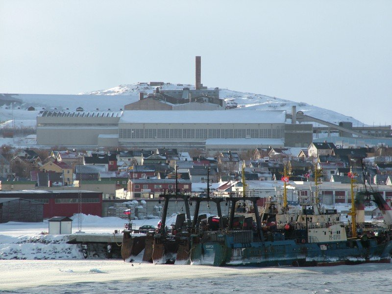 The harbor of Kirkenes in northern Norway, on the border with Russia. (Wikimedia Commons/Clemensfranz)