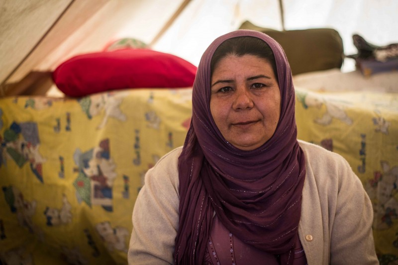 Heva Abdi is desperate to see her fifth son Mustafa, who fled Kobani before the rest of the family and now lives in Germany. (John Owens)