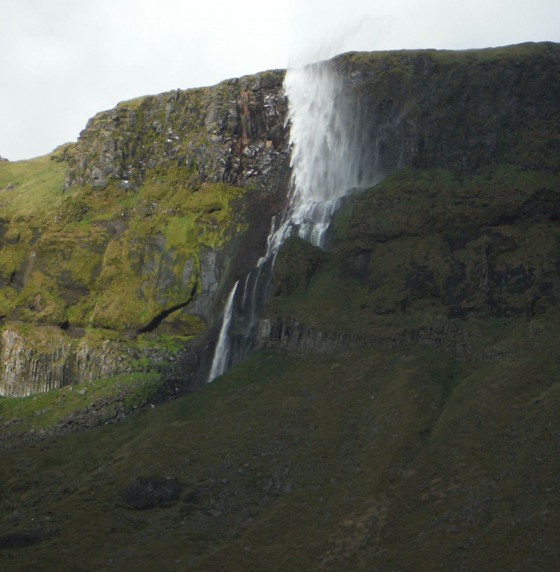 The wind in Iceland can be so strong that it pushes waterfalls upslope. (Margaret Williams)