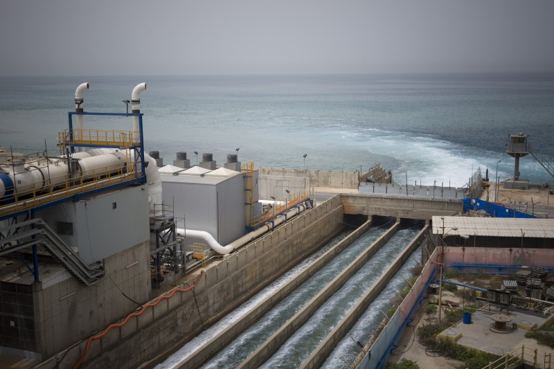 This desalination plant in Hadera, Israel, was dedicated in 2010. The plant, on the Mediterranean coast south of the port city of Haifa, was the third of five planned desalination facilities built to provide two-thirds of Israel's drinking water. (Ariel Schalit, AP)