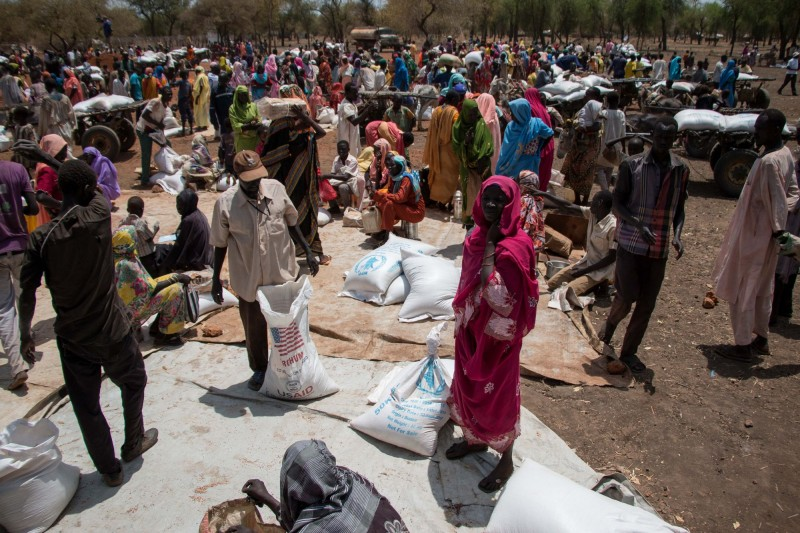 The refugees vastly outnumber the Mabanese host community, who are not entitled to the same aid assistance. There is competition for available land and resources. (Ashley Hamer)