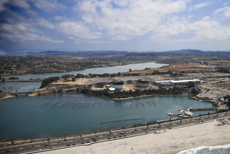 The Carlsbad, Calif., desalination plant provides water to San Diego, but the majority of the region's water is still imported from the Colorado River or the Sierra Nevada. (Lenny Ignelzi, AP)