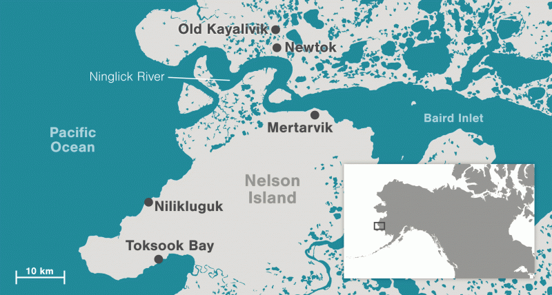 If all goes according to plan, the community of Newtok will resettle at the site known as Mertarvik, roughly 16km (10 miles) to the southeast, within the Yukon Delta National Wildlife Refuge.