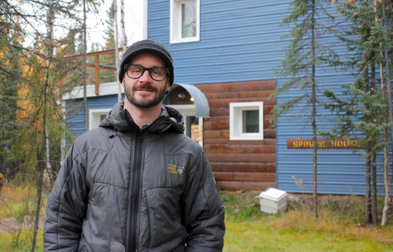 Architect Aaron Cooke of the Cold Climate Housing Research Center has worked with the Yup'ik people of Newtok to help plan their new community and customized eco-houses. (Madeline Ostrander)