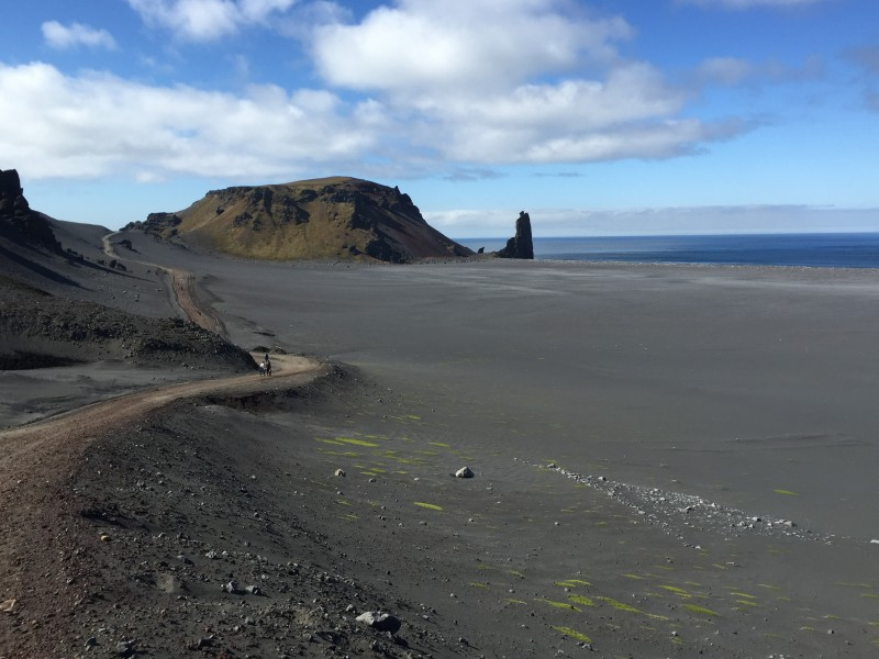 The view from Jan Mayen's road is spectacular. (Jennifer Kingsley)
