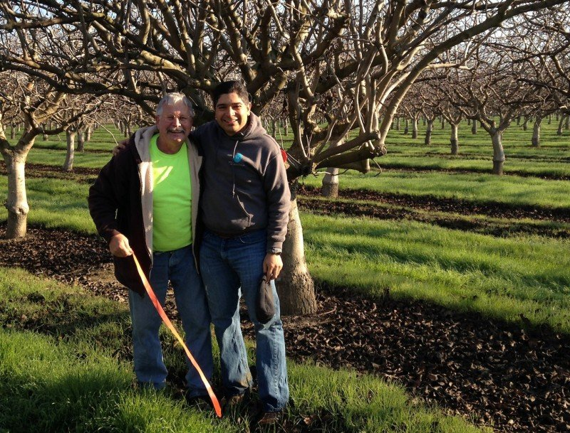 Jeff Mitchell, left, is shown with fellow University of California Cooperative Extension specialist Sam Sandoval Solis. (UC Davis)