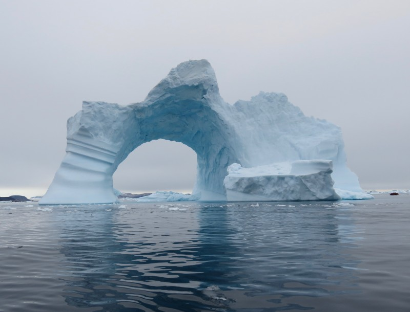 Drifting ice and icebergs can lead to unexpected changes in plans in the Arctic. (Peter and Connie Roop)