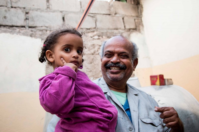 Mohammed Abu Bokar, a shop owner who named his ice-cream shop after his granddaughter Amira (pictured), traveled with his entire family from Yemen to Somaliland. (Ashley Hamer)