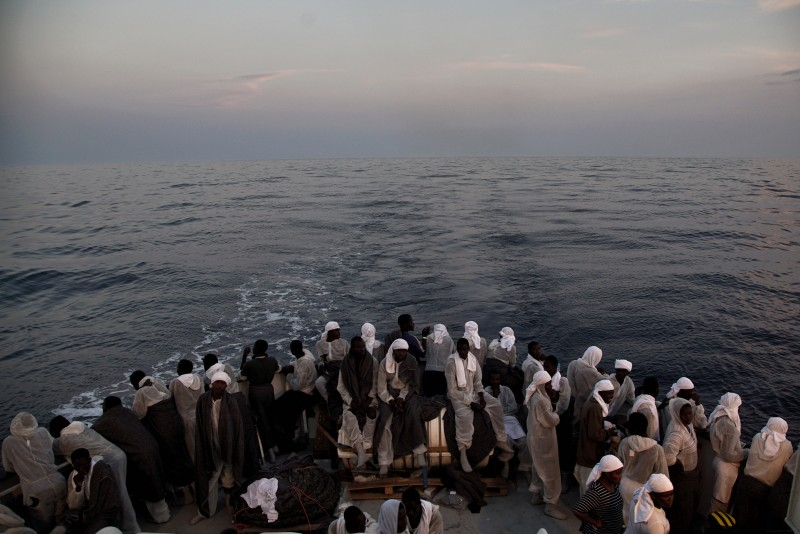 More than 600 migrants are aboard this ship, which is part of the Mediterranean rescue effort by SOS Mediterranee and the medical aid group Medecins Sans Frontieres (MSF). (AP/Bram Janssen, File)