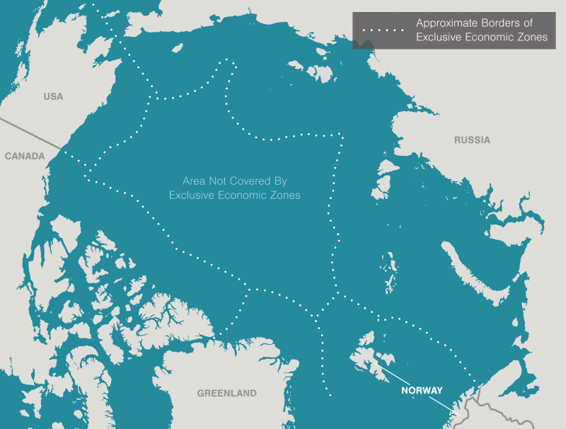 As fish species in the Arctic change, the five coastal Arctic nations, as well as countries interested in harvesting Arctic fish, must determine a way to regulate harvest in an area where only 8 percent of the region is governed by international rules. (Illustration by Mark Garrison)