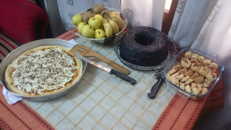 A meal shared by Wissam Zarqa and his wife before the siege began in eastern Aleppo. (Wissam Zarqa)