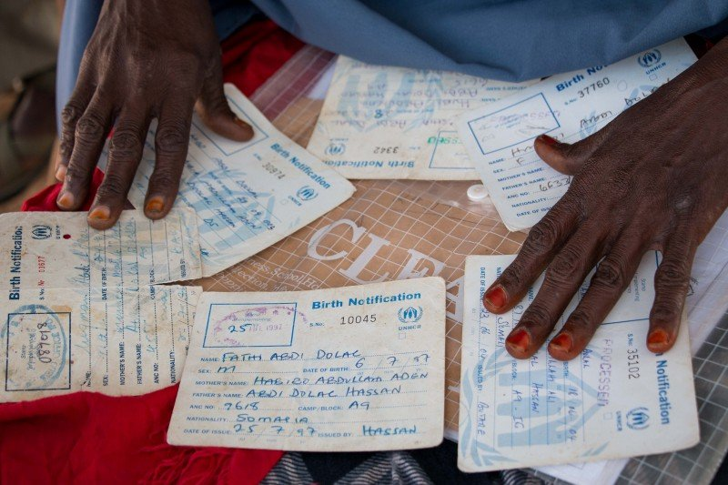 Registered refugees can sign up for the voluntary repatriation process in Dadaab's UNHCR center and are eligible for cash allowances once they enter Kismayo. (Ashley Hamer)
