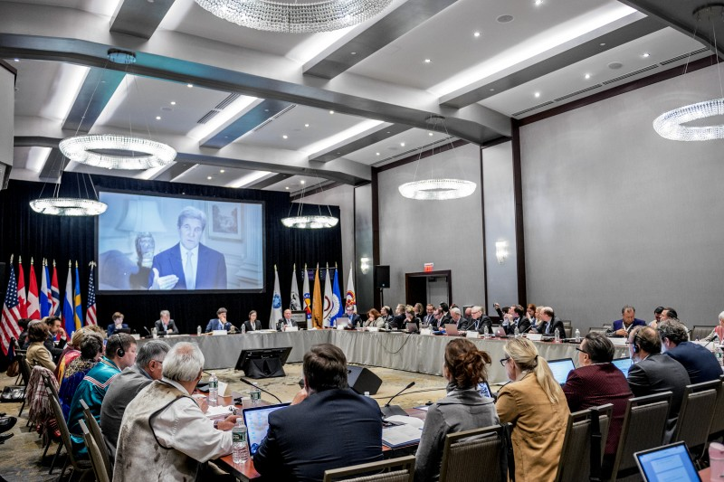 U.S. secretary of state John Kerry welcomed delegates to the SAO Plenary meeting in Portland, Maine, in October 2016. (Arctic Council Secretariat, CC BY-NC-ND / Linnea Nordström)