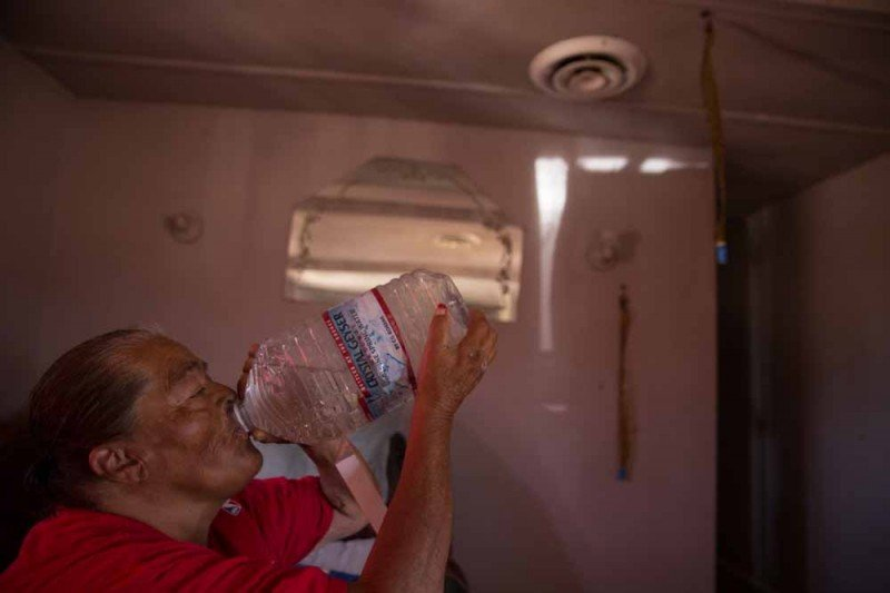 Hilda Garcia, a resident of Okieville in Tulare County, California, is one of hundreds in the county who live in households that lack running water. (Sarah Craig)