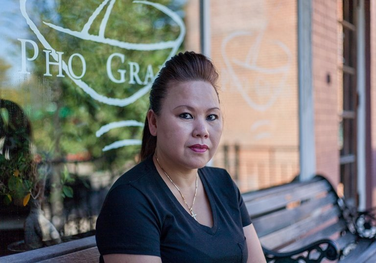 Hang Nguyen Trinh moved to the U.S. from embattled Saigon with her family when she was 11 years old. She manages the best-known Vietnamese restaurant in the St. Louis area. (Nathan Parker)
