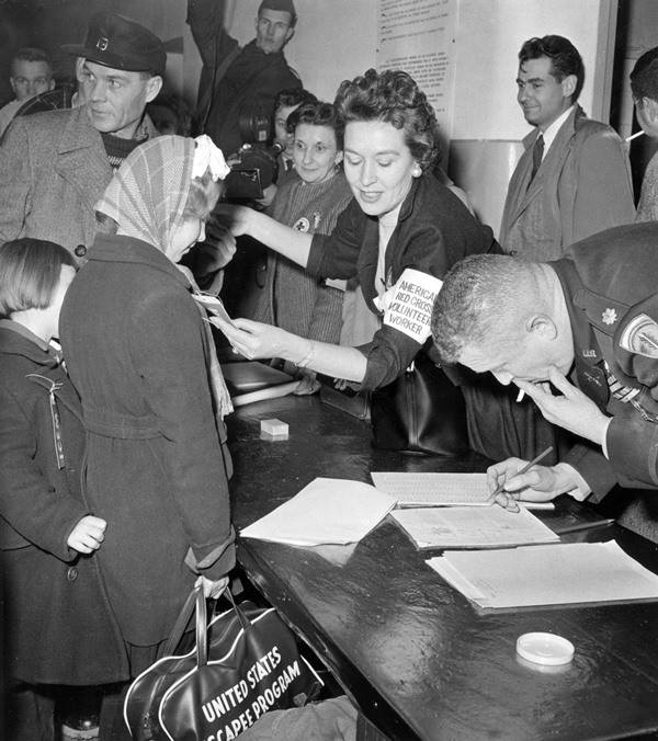 Due to the put-down of the Hungarian Uprising in 1956 by Soviet forces, around 200,000 people fled the county toward the West. In 1956, the U.S. resettled up to 35,000 Hungarian refugees. (George Goebel/picture-alliance/dpa/AP Images)