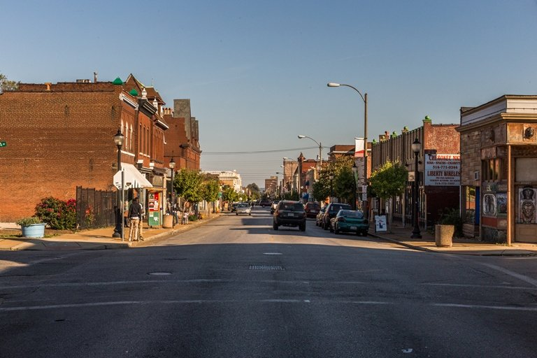 Despite some migration and resettlement of refugees in recent years, many parts of inner-city St. Louis remain neglected, with their economies in dire straits. (Nathan Parker)
