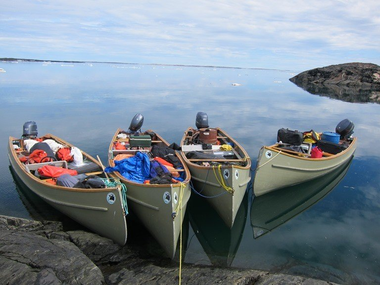 Grant Gilchrist and his team conducted boat-based surveys of polar bears found near eider nests in the Hudson Strait east of Cape Dorset. (Grant Gilchrist)