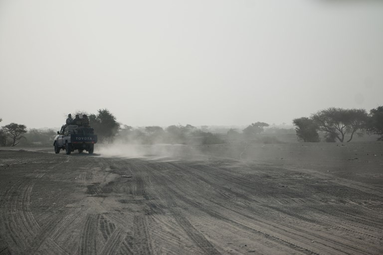 There are no paved roads in the area around Lake Chad. (Ashley Hamer).