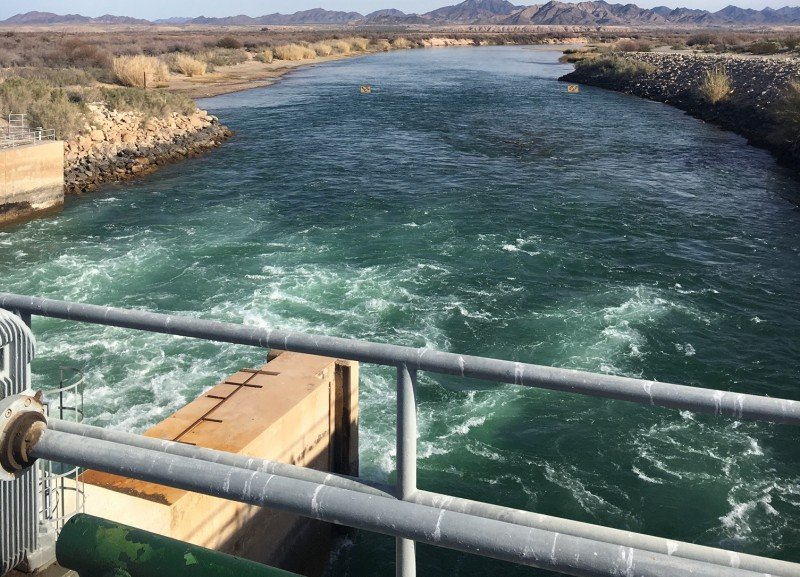 Water flows through the Palo Verde Irrigation District in California, which has high-priority rights to Colorado River water. (Kirsten James)