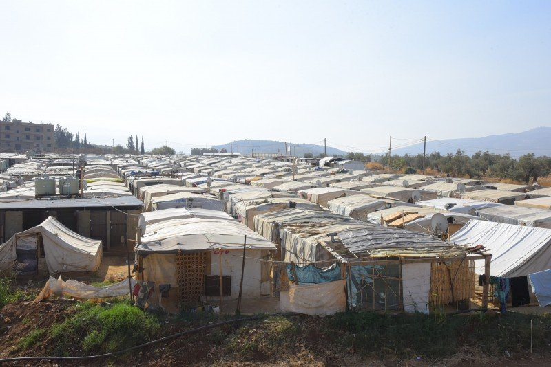 Not far from Tel Abbas, the larger Reyhanli refugee camp in Akkar, pictured on November 11, 2016, has housed hundreds of refugees. (Muhammed Salih/Anadolu Agency)