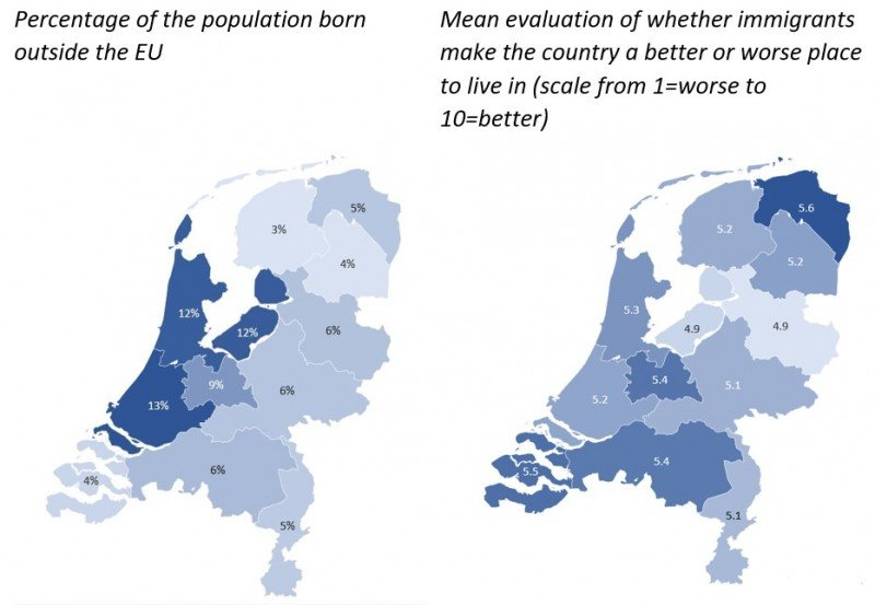 (Source: Eurostat Census 2011; ESS 2014; foreign-born respondents are excluded from the computation of averages)