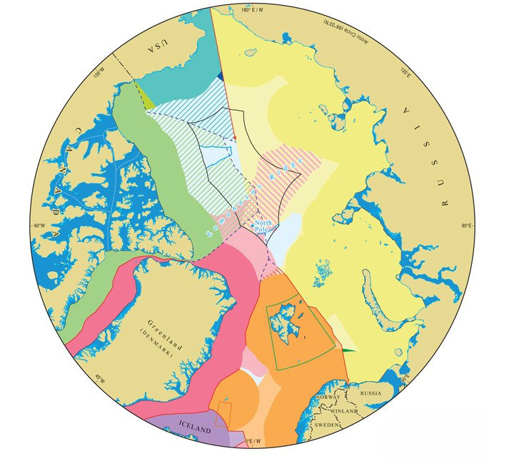 Maritime jurisdiction and boundaries in the Arctic region. More information and briefing notes (IBRU, Durham University)