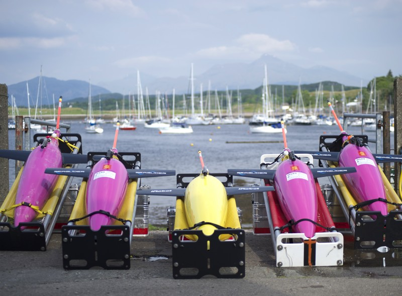 These marine robot gliders will be deployed for months at a time to study how diminishing sea ice affects productivity in the Arctic. The four-year project is being undertaken by the Natural Environment Research Council in the UK and Scottish Association for Marine Sciences. (Photo Courtesy of the Scottish Association of Marine Science)