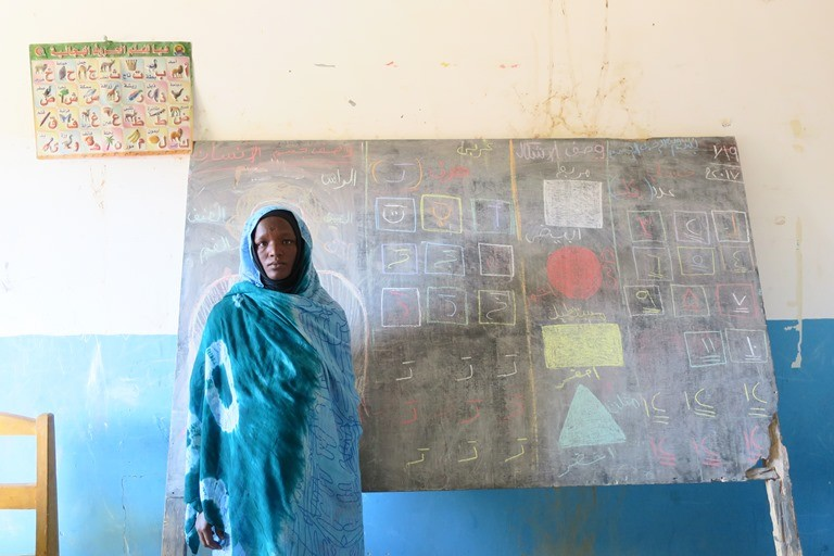 Ibtissam, a preschool teacher in Iridimi refugee camp, eastern Chad. (Giulia McPherson, Jesuit Refugee Service/USA)