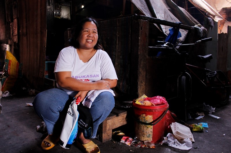 Mary Jane Judilla at Likaan Women's Health Center in Manila says women are traveling up to three hours to get to the center for contraceptive implants they can no longer find in their villages. (Ana P. Santos)