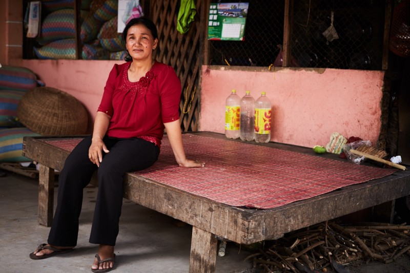 Over the past 12 years, Eang Pish has risen from community volunteer to deputy village chief. With help from Banteay Srei's leadership workshops, she hopes to win a local government seat in the June elections. (Ruth Carr)