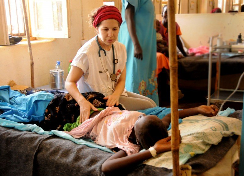 """I saw a counselor in the immediate aftermath of the mission and I spent an hour crying in her office,"" says American obstetrician and gynecologist Veronica Ades, who was with Medecins Sans Frontieres in Aweil, South Sudan. (Lisa Jones)"