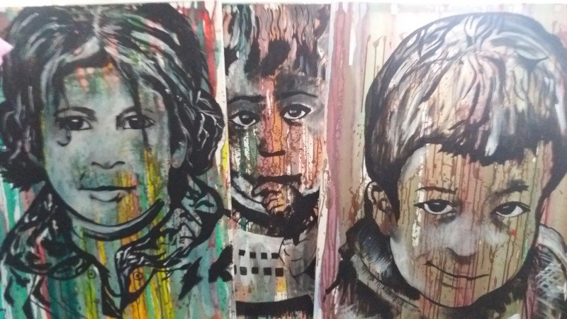 One of Al-Nojoom's portraits of Syrian children, part of a series called Hope. (Sandra Prufer)