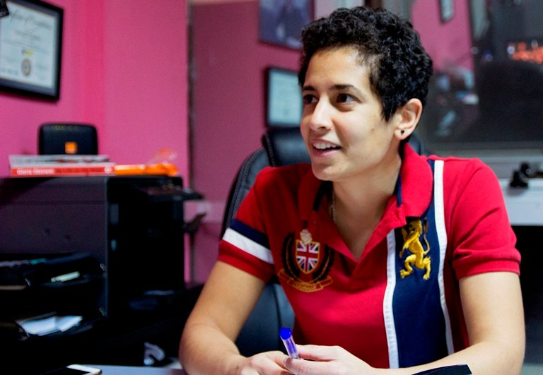 SheFighter founder Lina Khalifeh was inspired to start training women when she discovered a friend had been abused by her father and brother. (Elspeth Dehnert)