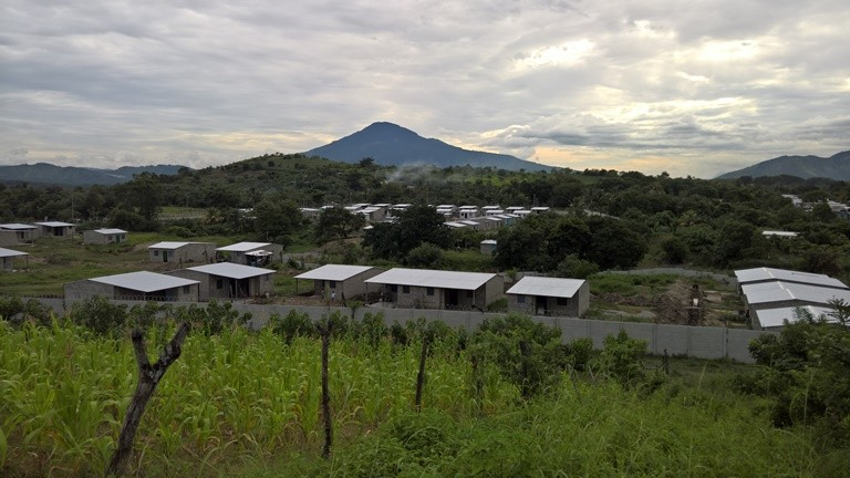 Residents of the Romero Community are rebuilding their homes from the ground up after gaining rights to the land in May 2015. Many families have already replaced their shacks with small, sturdy homes. (Christine Bolaños)